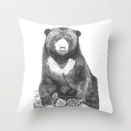 Malayan Sun Bear (Beruang Madu) Throw Pillow