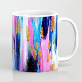 Spring Golden - Pink and Navy Abstract Coffee Mug