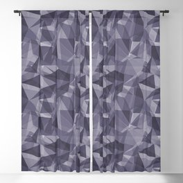 Abstract Geometrical Triangle Patterns 3 VA Mystical Purple - Metropolis Lilac - Dried Lilacs Blackout Curtain