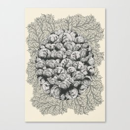 When Zombie Snails Attack Canvas Print
