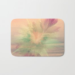 Peach Pastel Color Burst Abstract Bath Mat