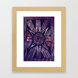 colored compass Framed Art Print