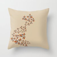 wind Throw Pillows featuring Wind by LindsayMichelle