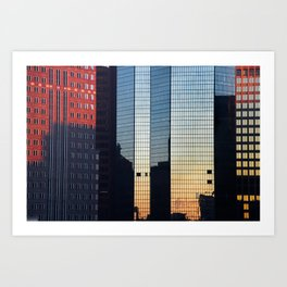 Sunset reflected III. Art Print