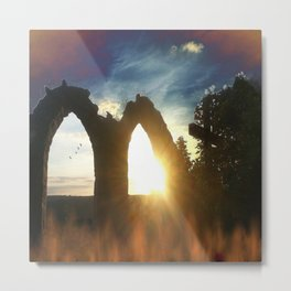 Fire at the tower Metal Print