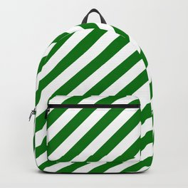 Snow White and Christmas Green Candy Stripes Backpack