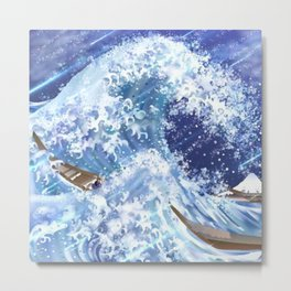 The Mighty Waves Metal Print