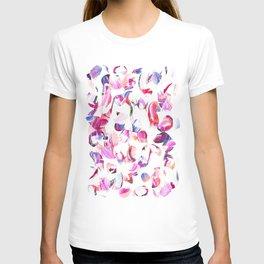 Graffiti Pink and blue Brush stroke pattern T-shirt