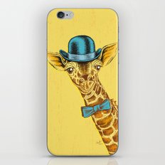 I'm too SASSY for my hat! Vintage Painted Giraffe. iPhone & iPod Skin