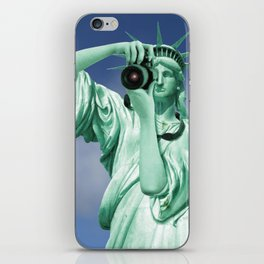 Say cheese for Liberty! iPhone Skin