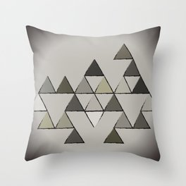 Grunge Triangles Throw Pillow
