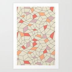 mod colorblock mesh Art Print
