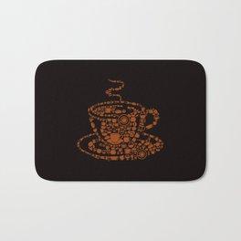 Black Coffee Bath Mat