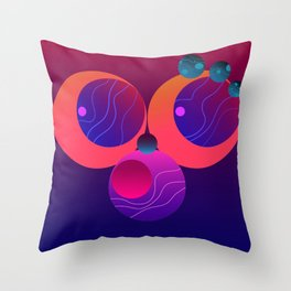 Monkey Planets (2/2) Throw Pillow
