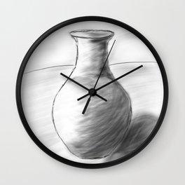 Pot Sketch Wall Clock