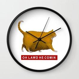 OH LAWD HE COMIN Meme Wall Clock