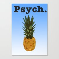 psych Canvas Prints featuring Psych by Lauren Lee Design's