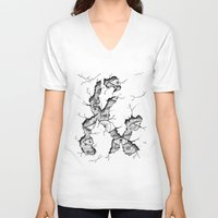 ampersand V-neck T-shirts featuring ampersand by Squidfeathers