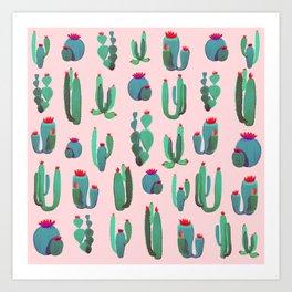 Simple Cactus Art Print