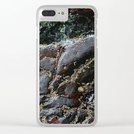 Ocean Weathered Natural Rock Texture with Barnacles Clear iPhone Case