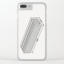 Life is short but deep Clear iPhone Case