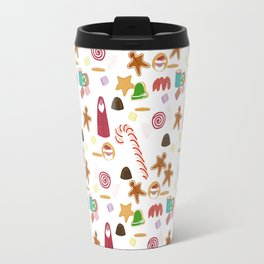 Christmas Sweeties Candies, Peppermints, Candy Canes and Chocolates Travel Mug