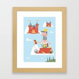 Fare castelli in aria Framed Art Print