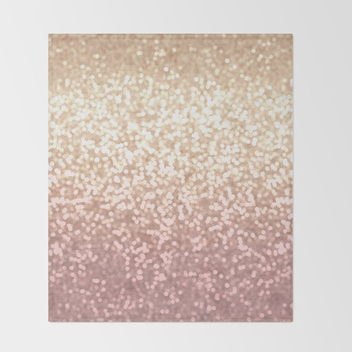 Blush Pink Throw Blanket Awesome Champagne Gold Blush Pink Glittery Ombre Pattern Society60 Throw