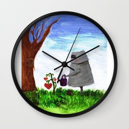 Sewing the Seeds of Love Wall Clock