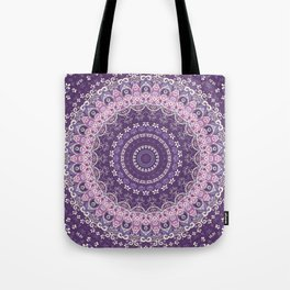 Purple Lace Mandala Tote Bag