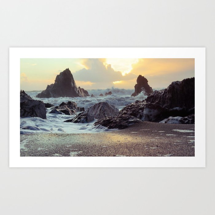 Crashing Waves II Art Print