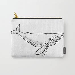 Humpback Whale Drawing Side Carry-All Pouch
