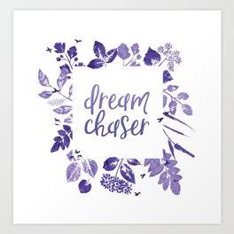 Dream Chaser Purple Ombre Art Print