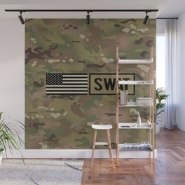 SWAT: Woodland Camouflage Wall Mural