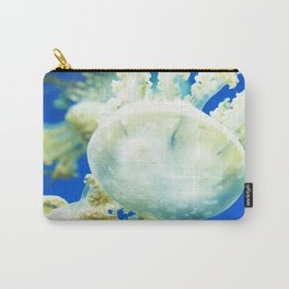 Blue Jellyfish Under the Sea Underwater Photography Saturated Pop Art Color Wall Art Carry-All Pouch
