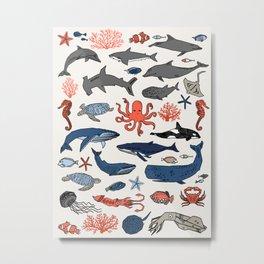 Ocean Animals  Metal Print