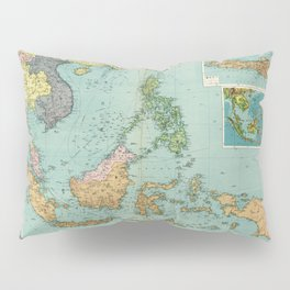 Map of the East Indies (1948) Pillow Sham