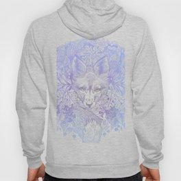 Pastel Purple Hiding Fox Drawing Hoody