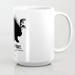 Get to the Point - Porculope Silhouette Coffee Mug