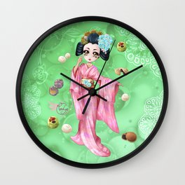 Wagashi Wall Clock