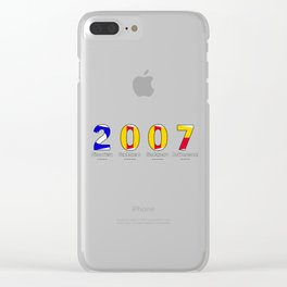 2007 - NAVY - My Year of Birth Clear iPhone Case