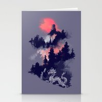 dragon ball z Stationery Cards featuring Samurai's life by Picomodi