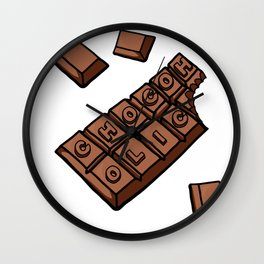 Chocoholic Illustration Wall Clock