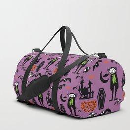 Cute Dracula and friends purple #halloween Duffle Bag