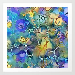 Dots on Painted Background 3 Art Print