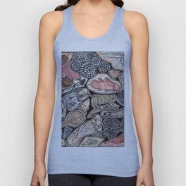Fossils for history, dinosaur and archaeology lovers Unisex Tank Top