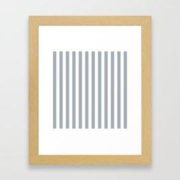 Grey Mist & White Tent Stripe Framed Art Print