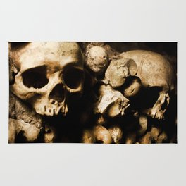 Skull walls in the catacombs Rug