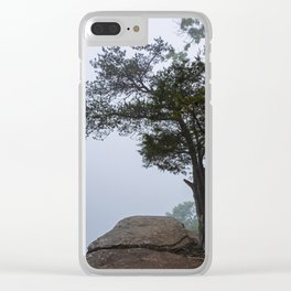 Heritage Point Overlook in the Fog Clear iPhone Case