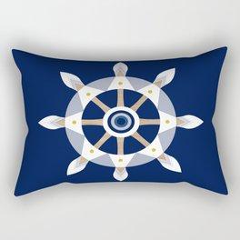Nautical Rudder Rectangular Pillow